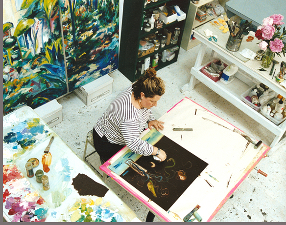 Andrea Fono in her Studio